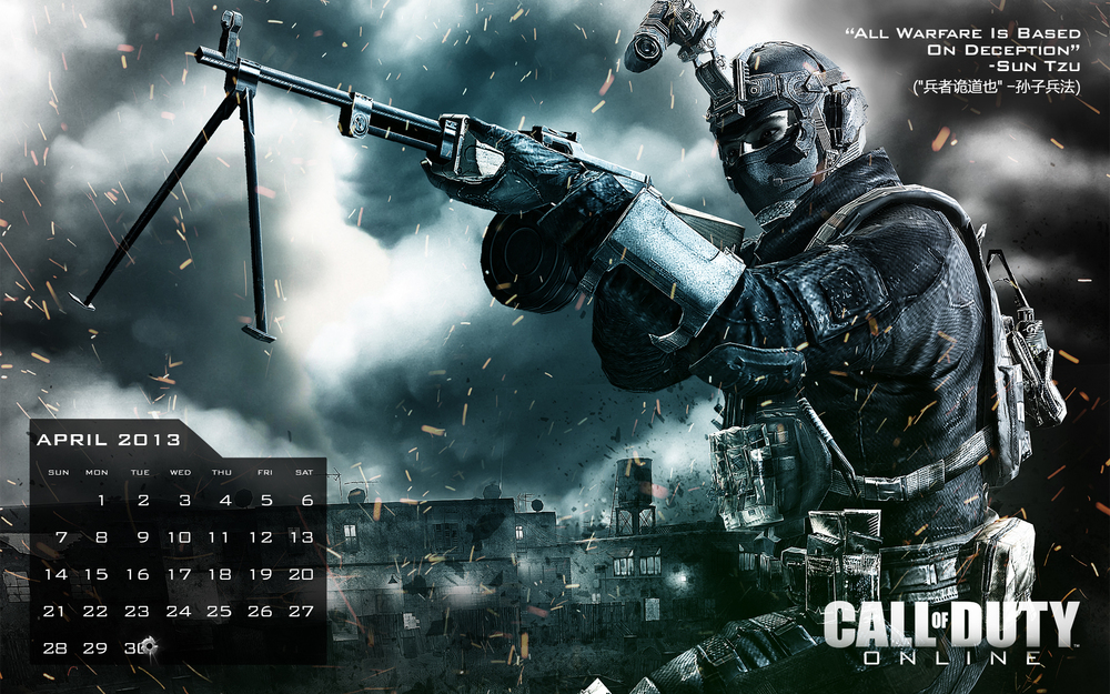 Call of Duty Online Calendar Wallpaper