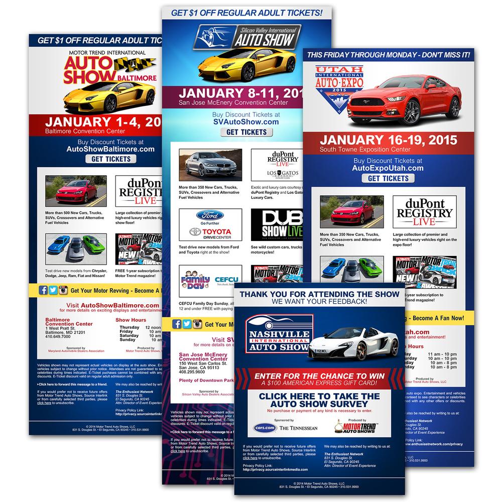 Motor Trend Auto Show Eblasts