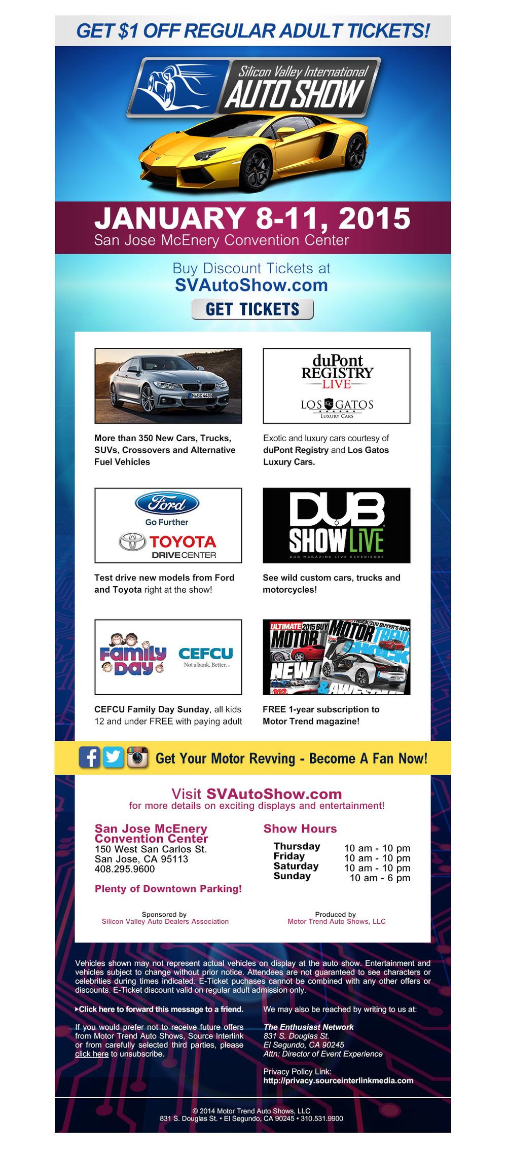Silicon Valley International Auto Show Eblast