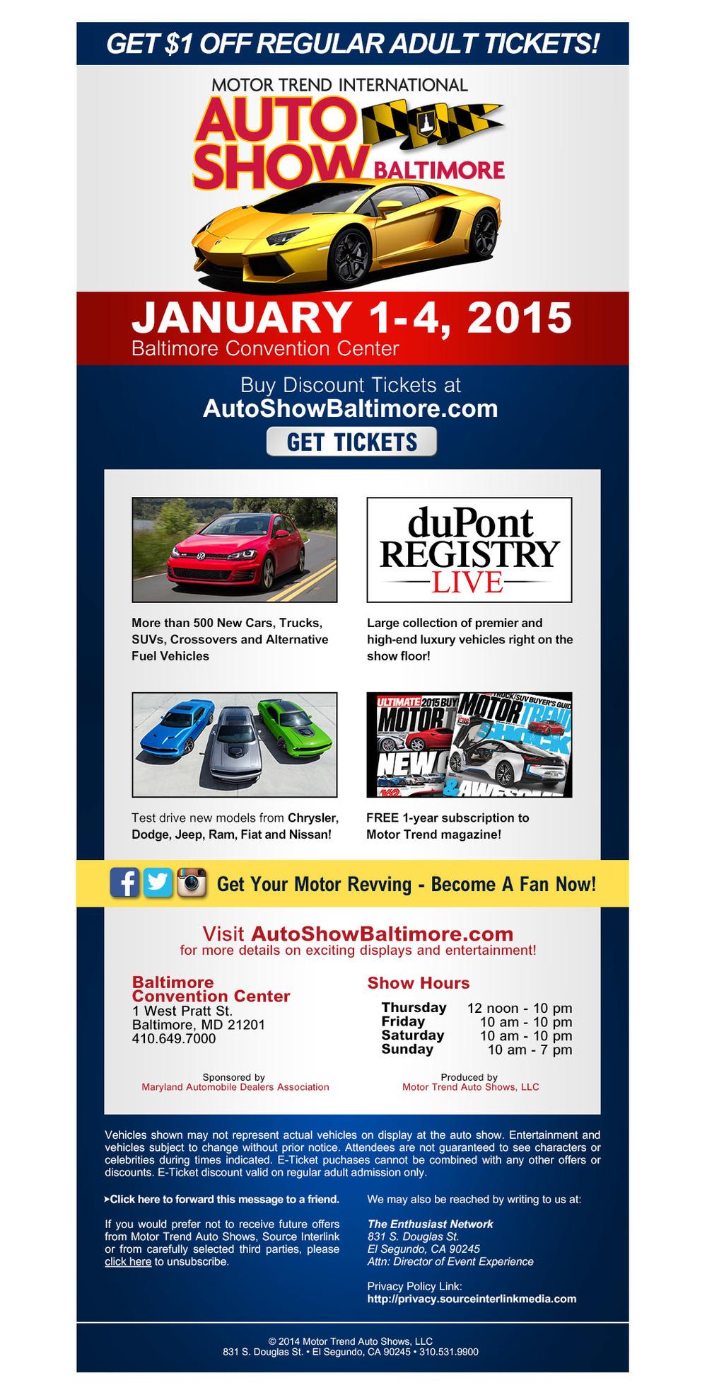 Motor Trend International Auto Show Baltimore Eblast