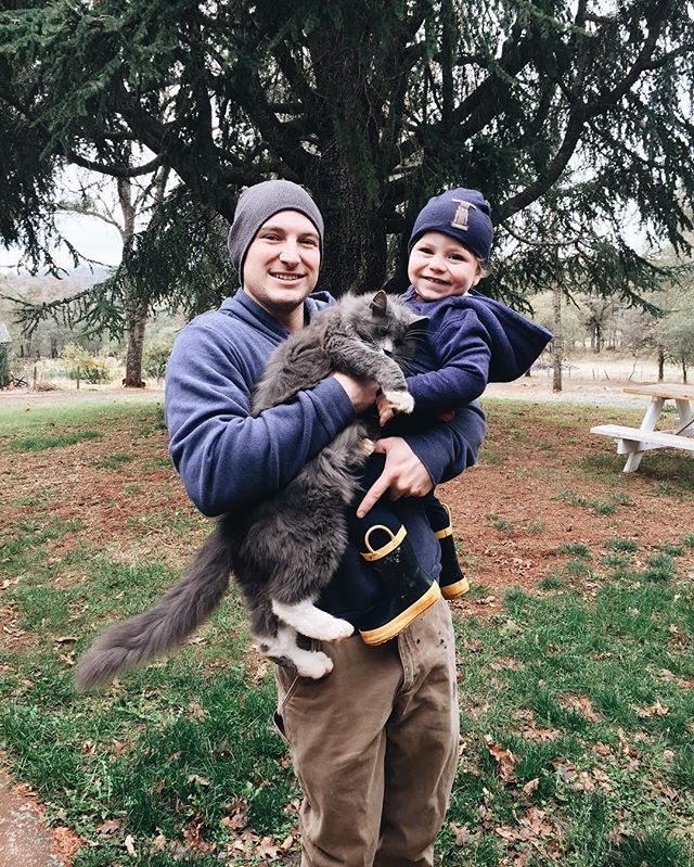 Well, if this isn't the cutest thing ever! Also, Mason loves our cat so much and wouldn't smile unless Eric was holding both of them 😜