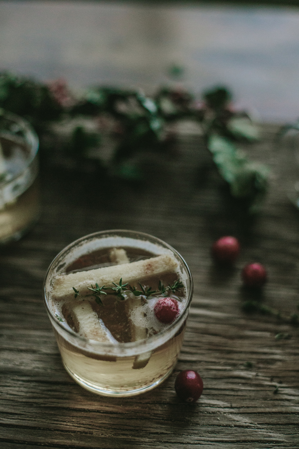 THE ETERNAL CHILD | GINGER - BOURBON SPICED SANGRIA W/ APPLE + THYME #recipe