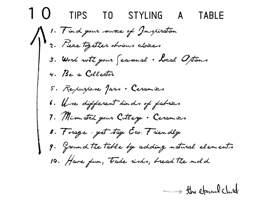 10 Tips to Styling a Table by The Eternal Child