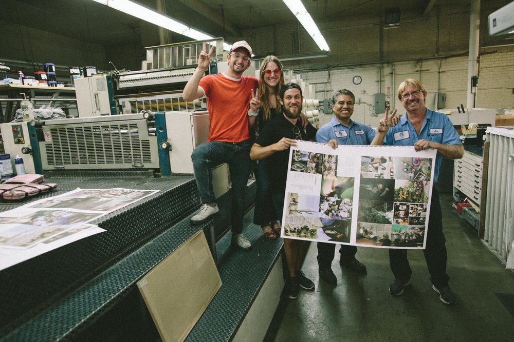 Classic obligatory peace sign photo with our printers - they were the best.
