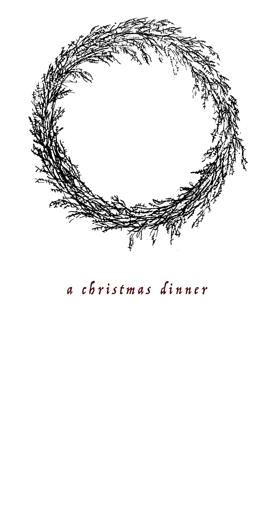 A Christmas Dinner Menu Template Download The Eternal Child