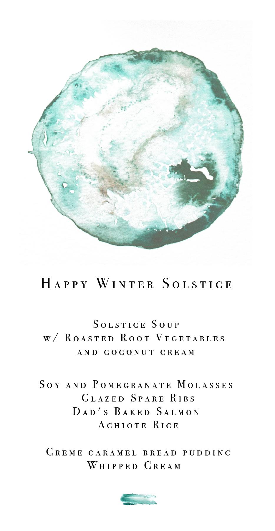 Happy Winter Solstice Menu Template Download — The Eternal Child