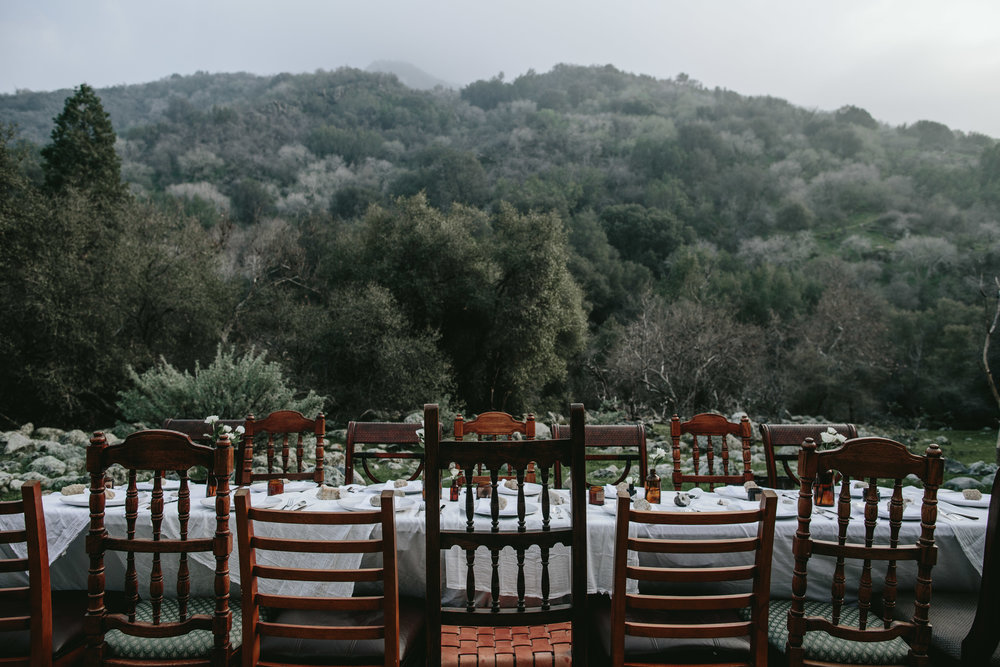 Dinner table Photo from an Eternal Child  Retreat in The Sequoias