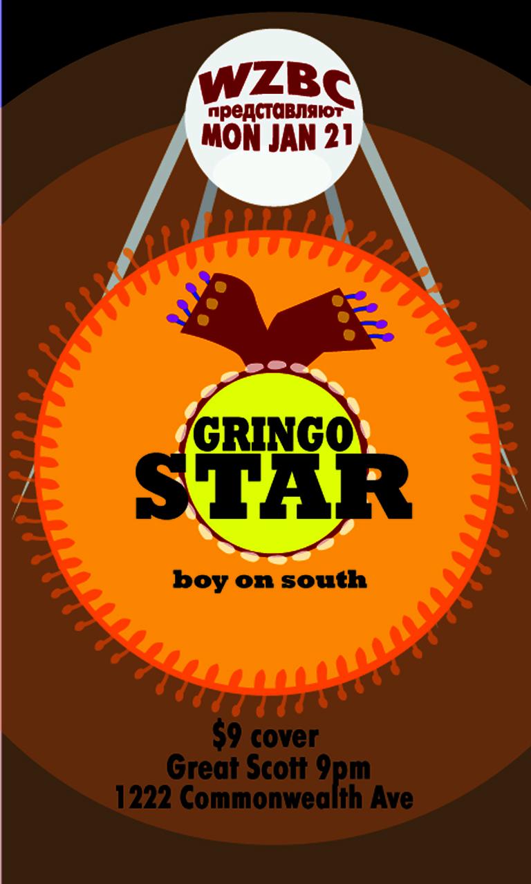 WZBC Gringo Starr Concert Poster