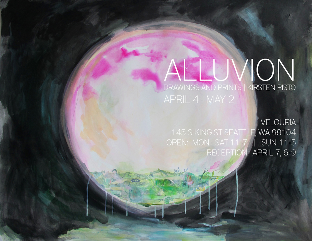 Drawings, prints and installation at Velouria, April 4 - May 2