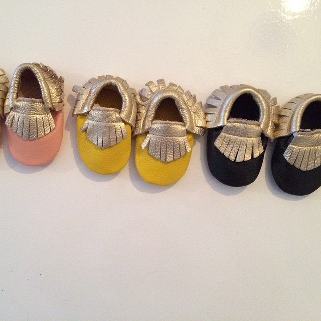 Two tone #baby #moccasins