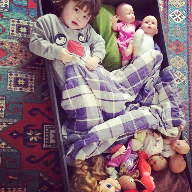 She just loves baby dolls