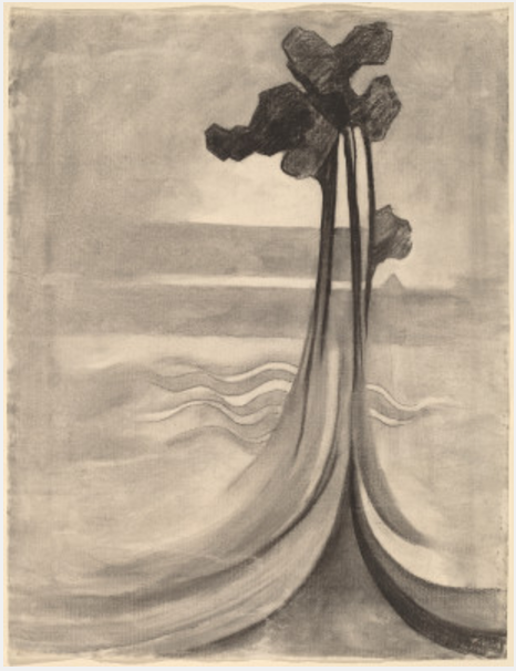 Second, Out of My Head.1915. One of O'Keeffe's charcoal drawings from the National Gallery of Art Archives.