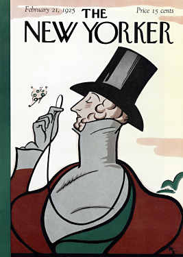 The cover of the first issue of  The New Yorker , drawn by  Rea Irvin .