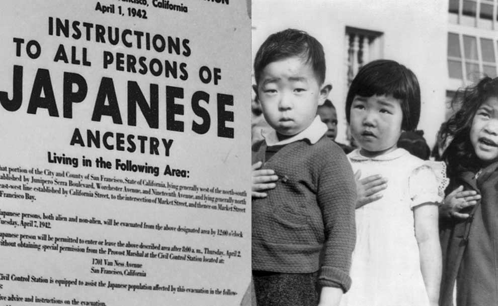 First-photo-Exclusion-Order-posted-to-direct-Japanese-Americans-living-in-the-U.S.-to-evacuate.-Second-photo-First-graders-of-Japanese-ancestry-Photos-commons.wik.jpg