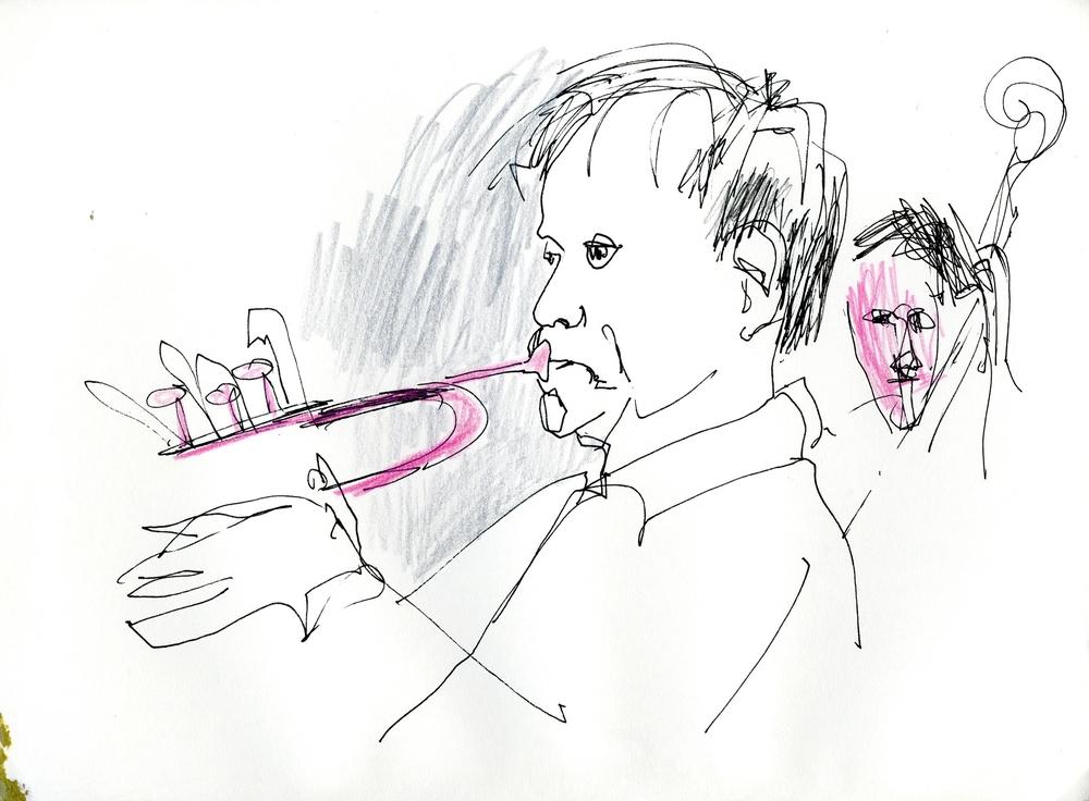 Jan Allan, trumpet. Lilla Hotellbaren, mars 2014
