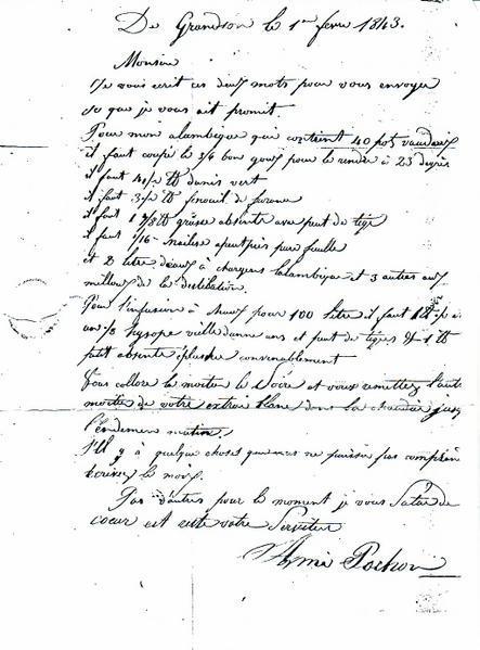 Absinthe: La recette d'Ami Pochon. Copyright: DuVallon - La Veuve Verte. http://www.absinthe-duvallon.com
