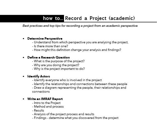 HoB how to... Record a Project (academic).jpg