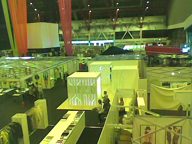 Student live project 'Depersonalised Space' built and used at  Graduate Fashion Week, Earl's Court, London.