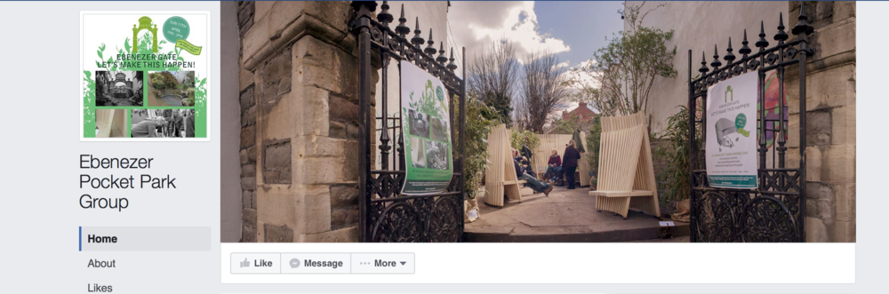 Find updates and events about Ebenezer Pocket Park on their  Facebook page