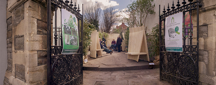 Story telling bench for new pocket park in Bedminster   Read the article at :  https://info.uwe.ac.uk/news