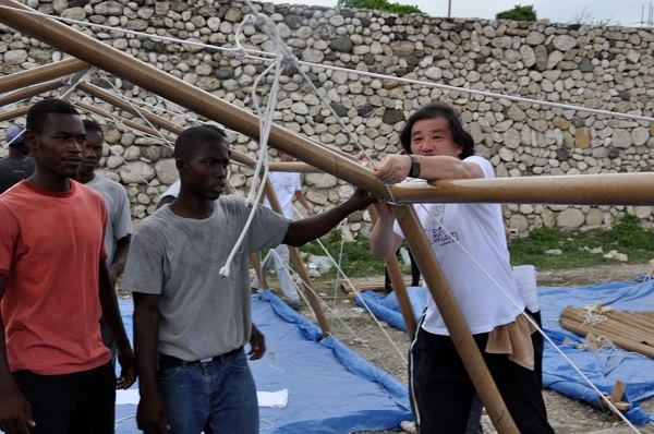 Paper Emergency Shelter, Haiti, 2010