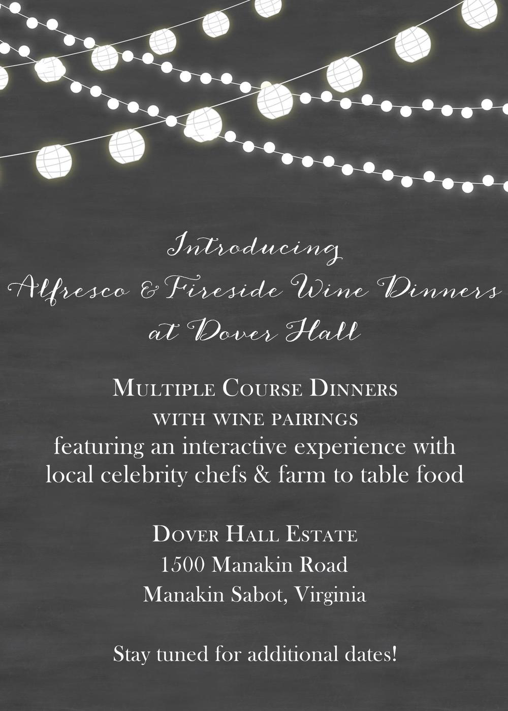 Dover Hall Wine Dinners