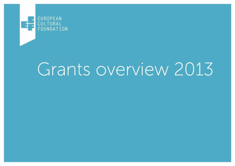 Download our 2013 Grants overview (PDF)