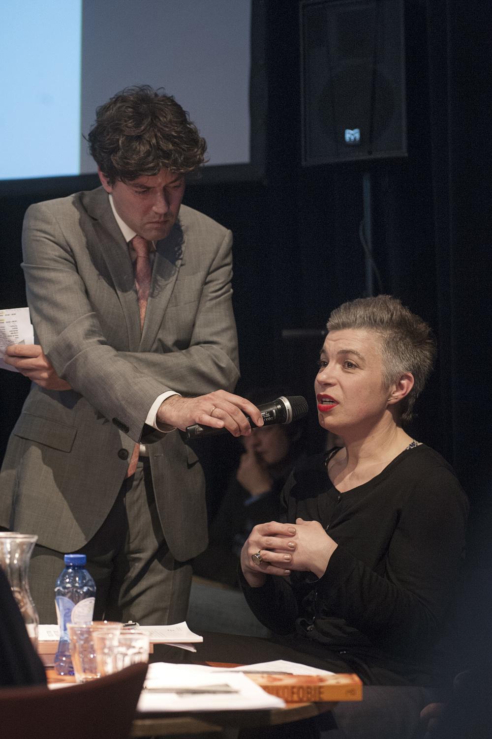Moderator Lennart Booij and MariaHlavajova©Jan Boeve