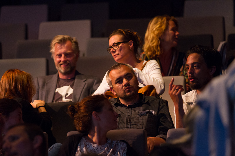 Members of the Networked Programme at the  €urovisions  live cinema performance. Photo ©Xander Remkes