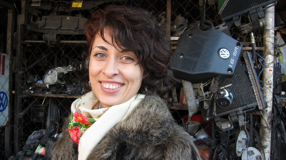 Sophia Lapiashvili in Eliava Market in Tbilisi ©Nicola Mullenger