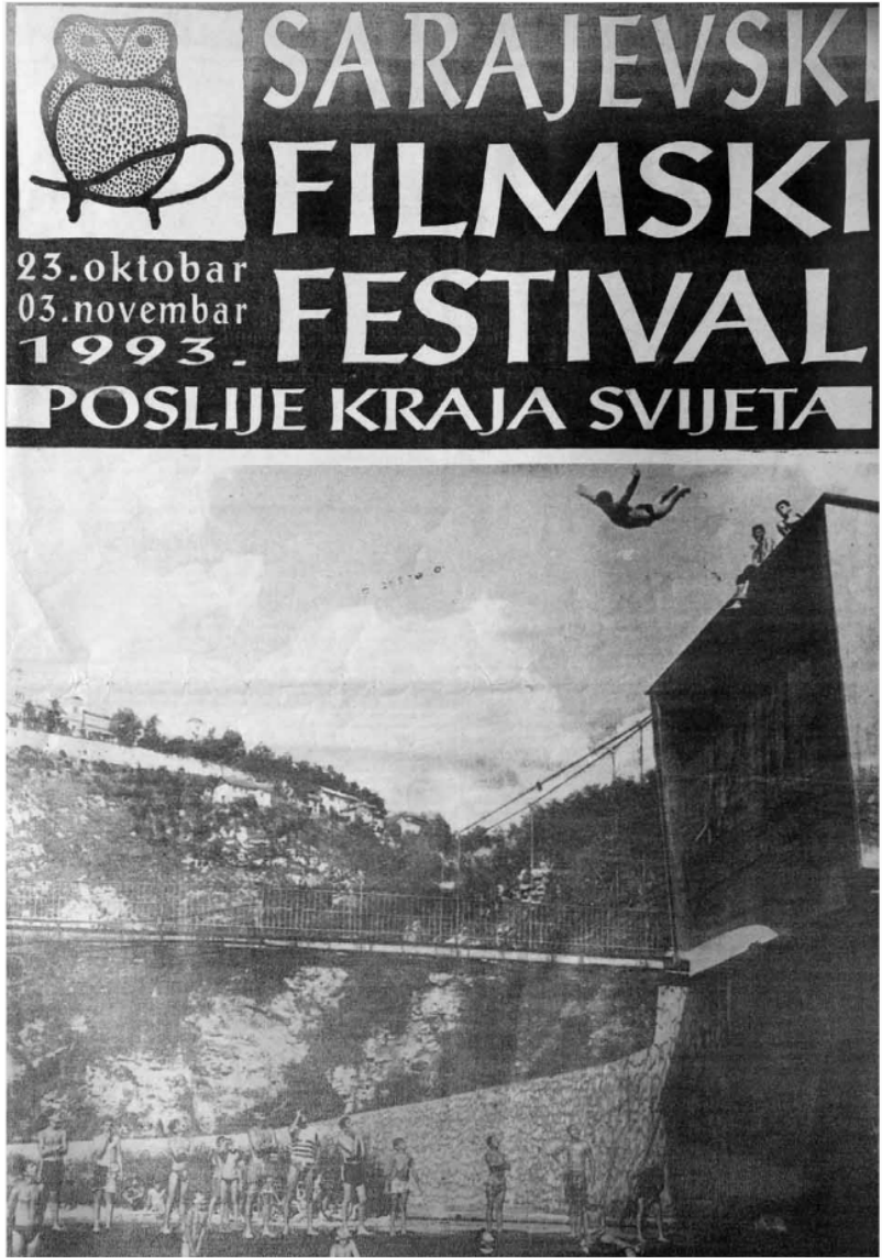 "Poster of the Sarajevo film festival ""Beyond the End of the world"""