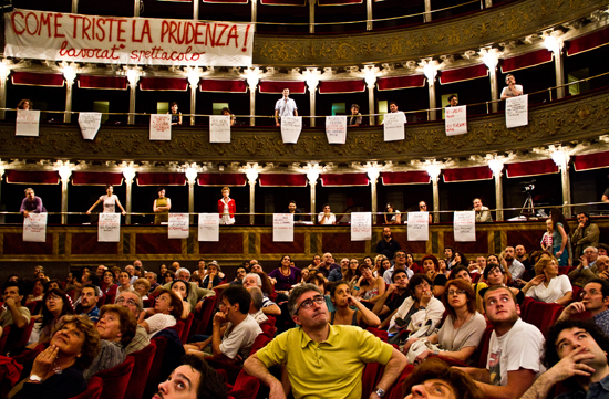 Teatro Valle Occupato. Photo ©Tiziana Tomasulo.
