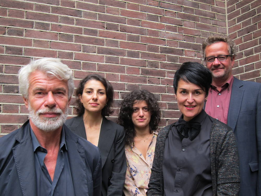 The 2015 ECF Princess Margriet Award Jury (from left to right, Chris Dercon, Rana Zincir Celal, Bojana Cvejic, Saskia van Stein, Christian Esch) © Nicola Mullenger