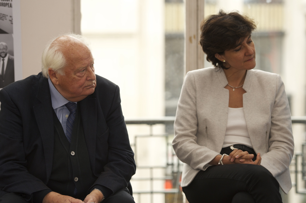 Raymond Georis and Sylvie Goulard at the Historic Speech debate at BOZAR. Photo ©Yves Gervais