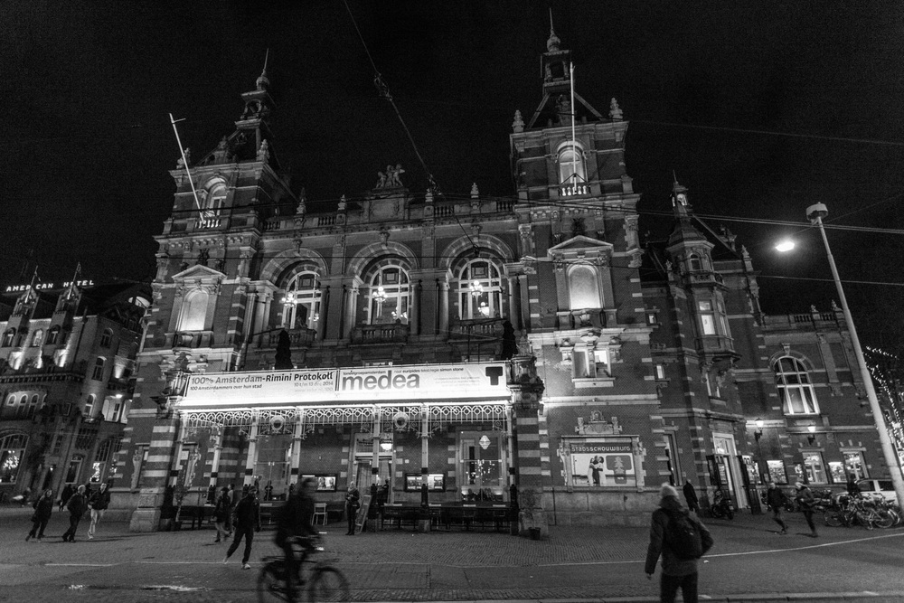 The Stadsschouwburg Amsterdam, hosting the 100% Amsterdam performance in December 2014. Photo by Marinus Toorman.