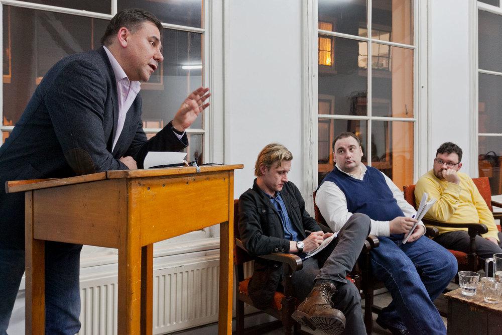 Ivan Krastev, Vasyl Cherepanyn,Yevhen Hlibovitsky and Mykhailo Glubokyi. Photo by Pip Erken.