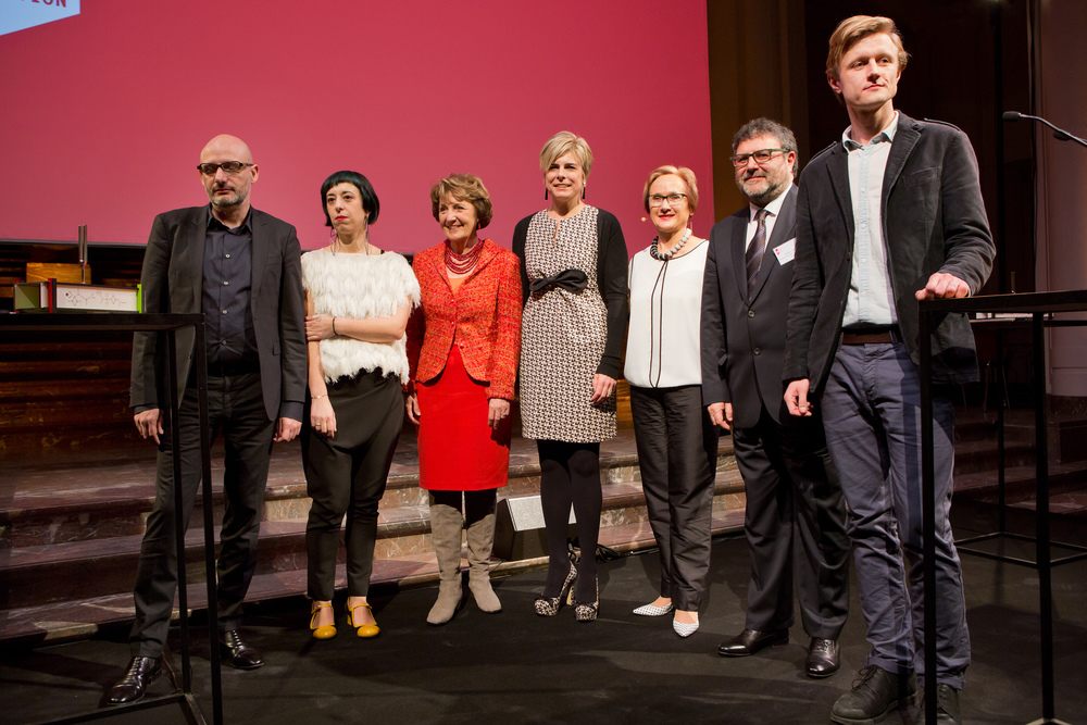 Poka-Yio, Xenia Kalpaktsoglou, HRH Princess Margriet of the Netherlands, HRH Princess Laurentien of the Netherlands, Katherine Watson, Görgün Taner and Vasyl Cherepanyn. Photo by Maarten van Haaff