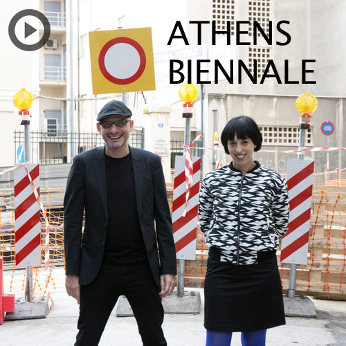 Athens Biennale co-founders Poka-Yio & Xenia Kalpaktsoglou. Photo ©Spyros Staveris.
