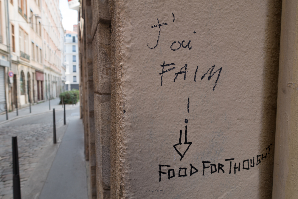 Food for thought - snapped on the streets of Lyon by our online curator Canan Marasligil