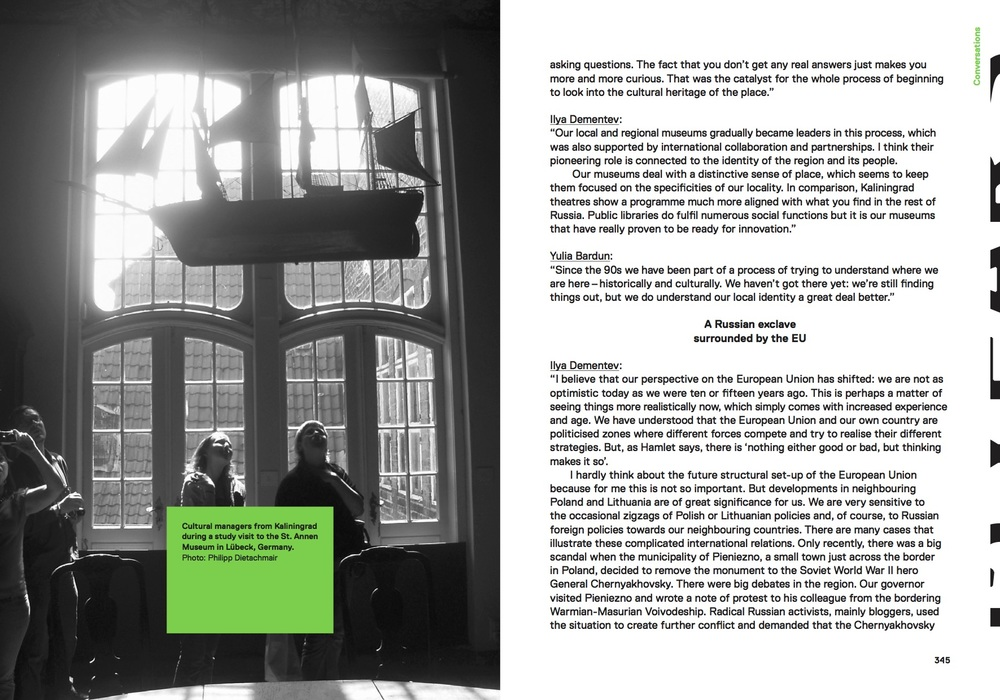 Pages from the Kaliningrad essay of the Another Europe book. Design and photo by Gerlinde Schuller (The World as Flatland)
