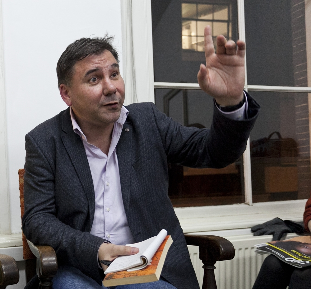 Ivan Krastev at an  ECF event in 2015 . Photo by Pip Erken