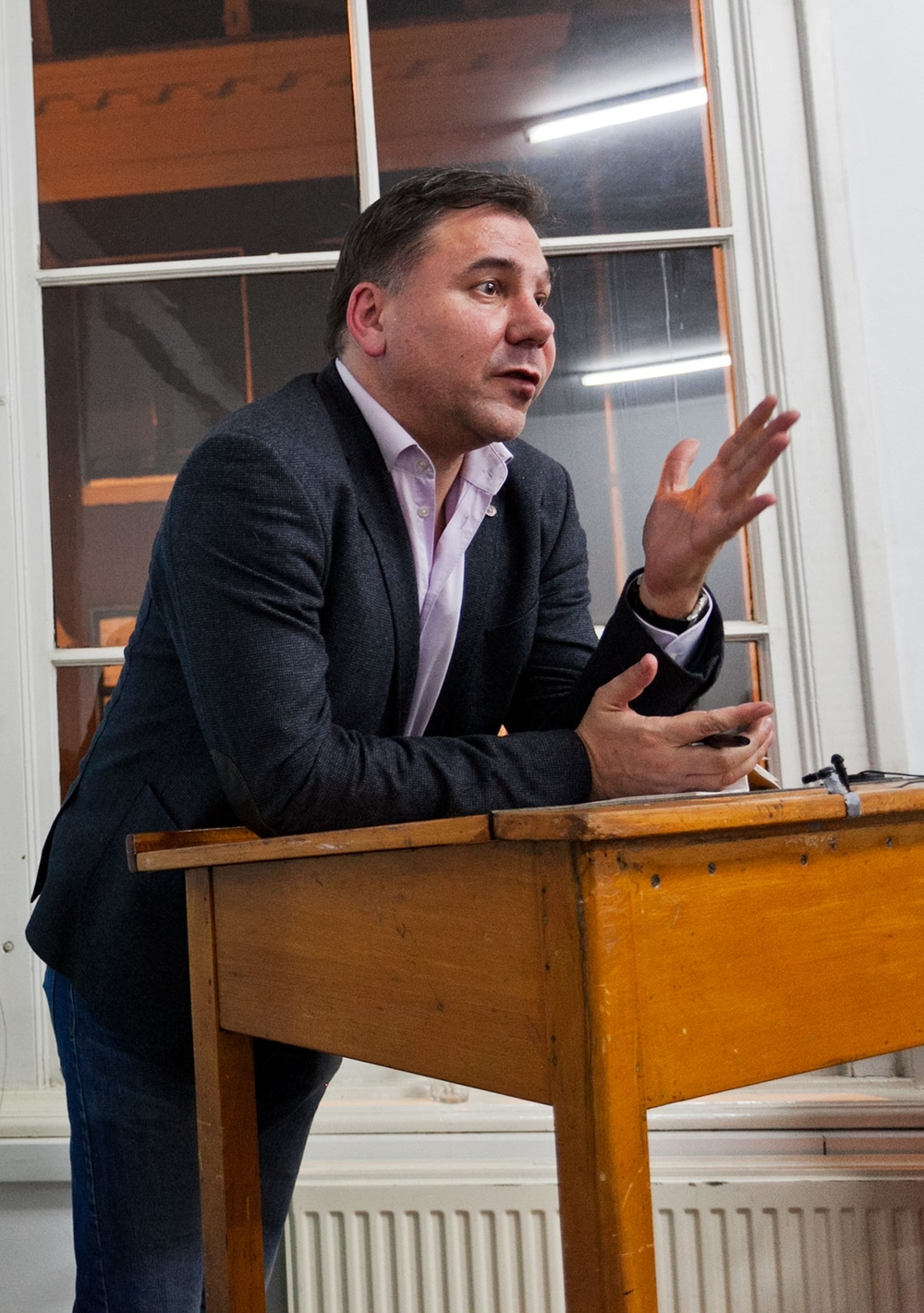 Ivan Krastev at an  ECF event in 2015 . Photo by Pip Erken.