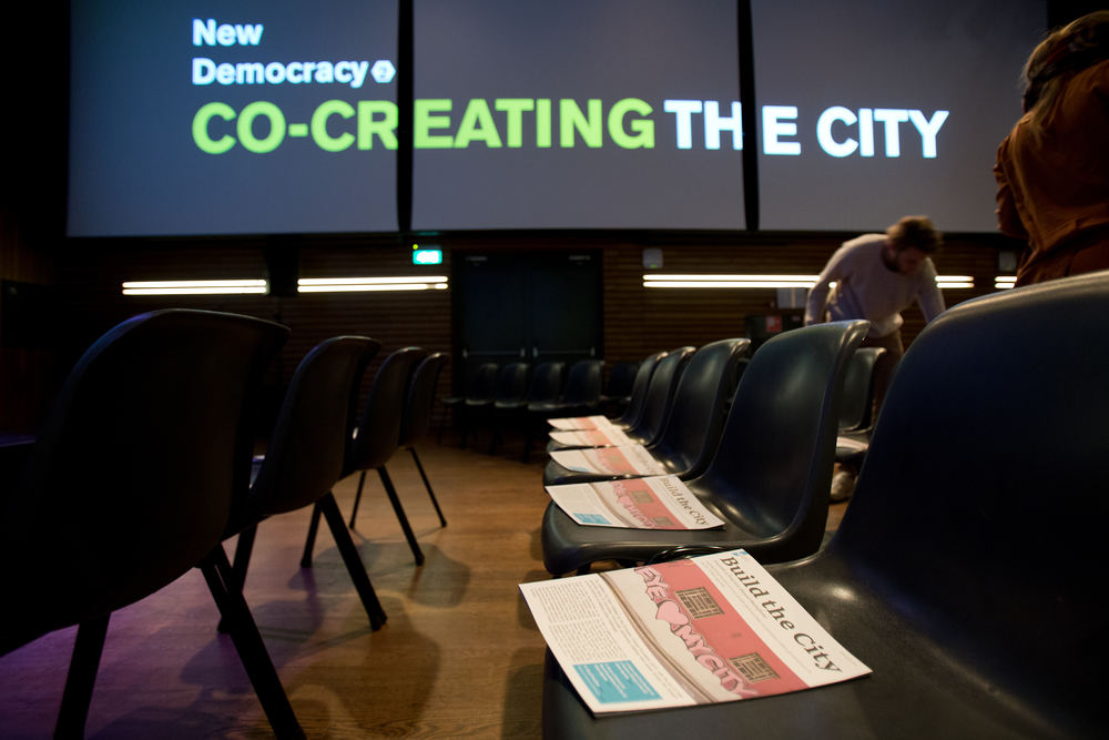 The Build the City Manifesto launched at our Co-creating the City event on 25/02. Photo by Maarten van Haaff.