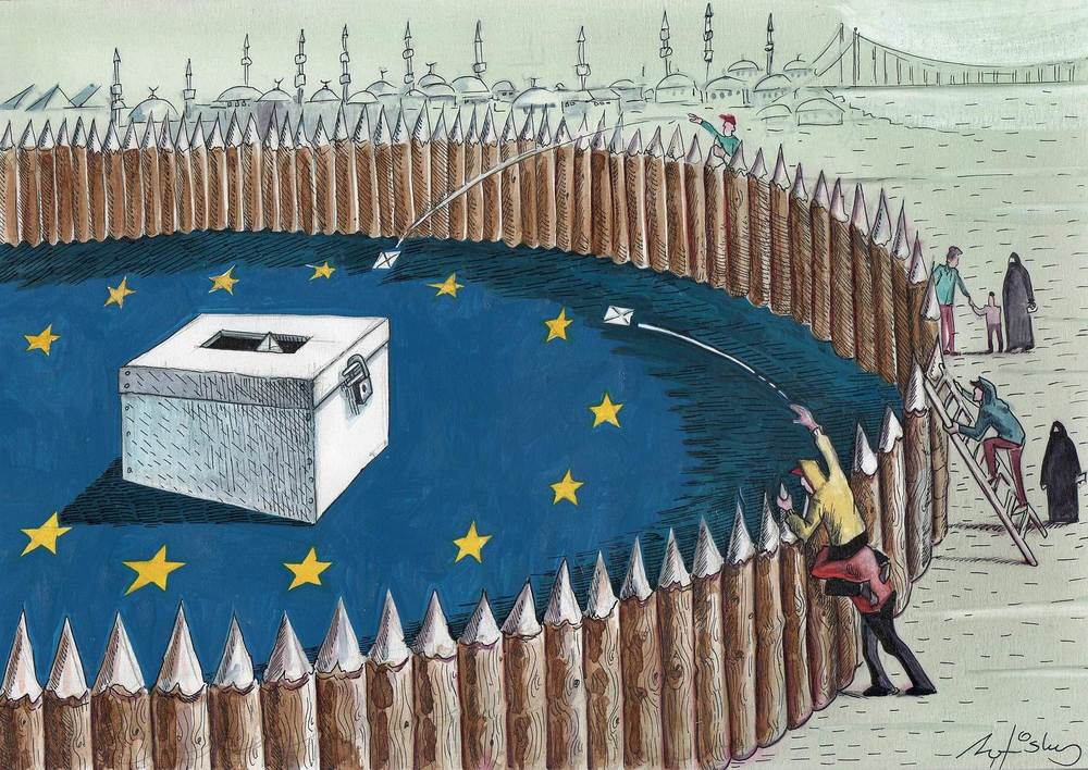 The Gap by Halit Kurtulmuş Aytoslu, part of our Drawing Citizenship call organised with The Cartoon Movement in 2014.