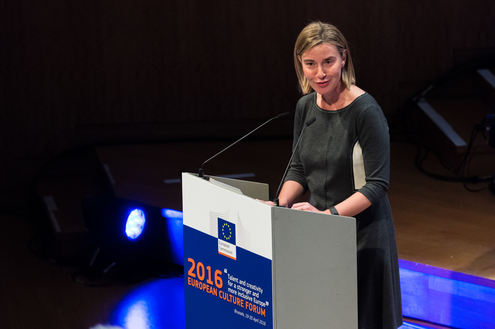 Federica Mogherini at the European Culture Forum 2016. Photo via European External Action Service.