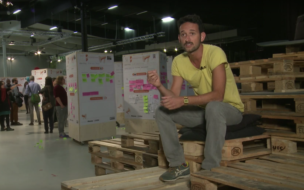 Federico at the Idea Camp in Sweden, 2015. Still from  YouTube interview .
