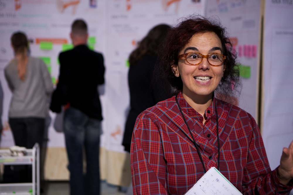 Silvia Nanclares at the Idea Camp 2015. Photo by Julio Albarrán.