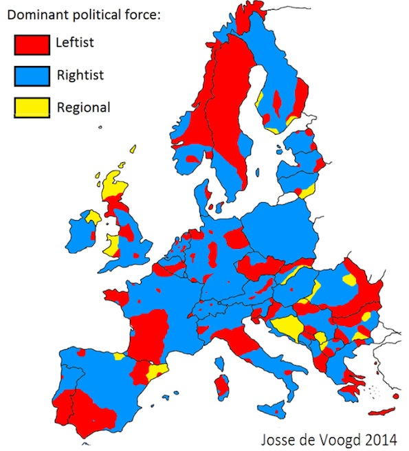 Infographic on 2014 EP elections by Dutch electoral geographer Josse de Voogd.