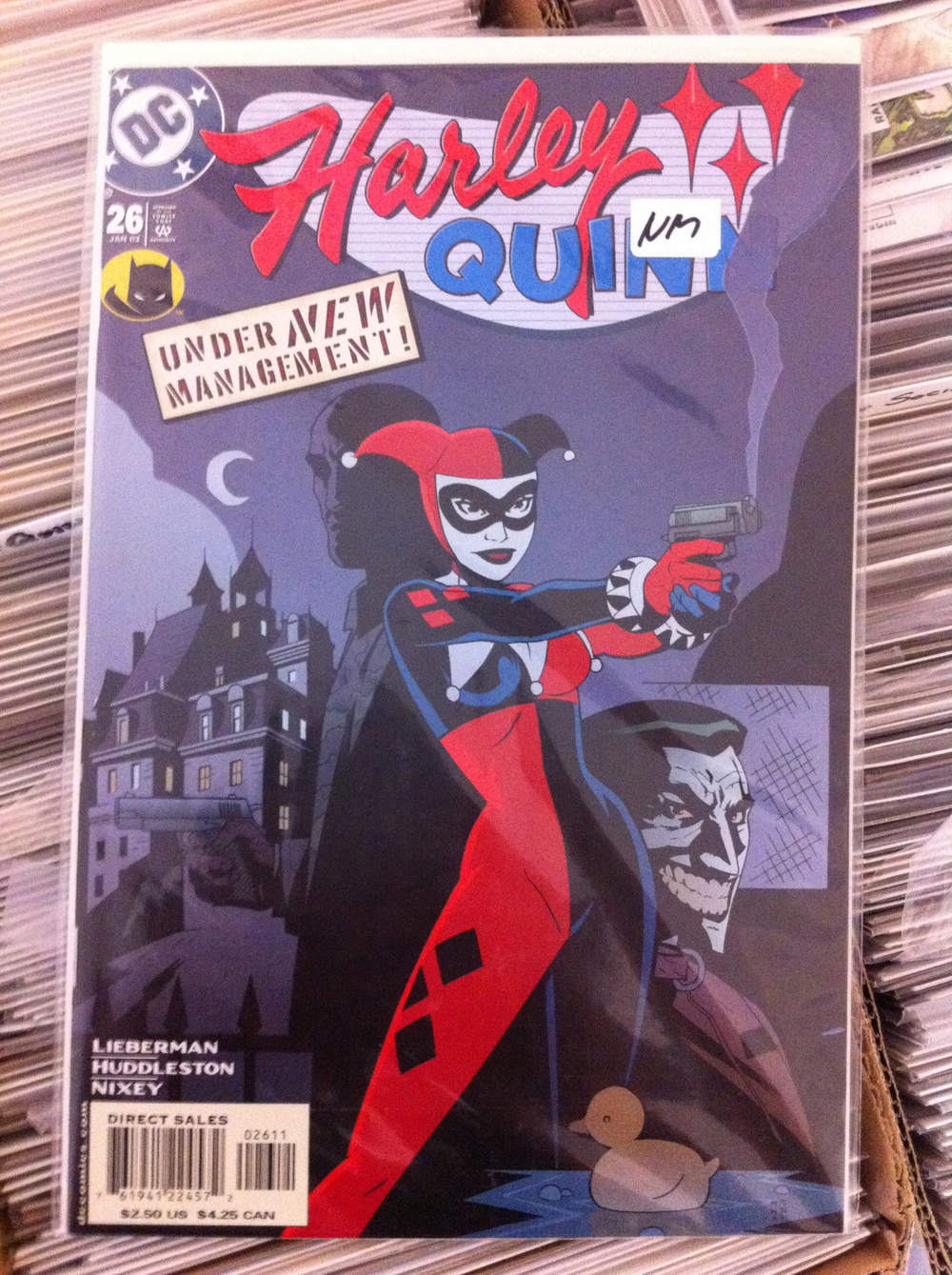 HARLEY QUINN #26-38 VOl 1 THe complete 2nd half of the 1st series where it takes a new direction with the new writing and artist team of AJ Lieberman and Mike Huddleston. THis is a more Crime noir take on Harley and was very popular in it's time....Not to say that this series is not hot now....