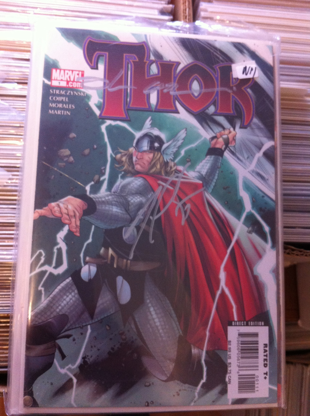 THE MIGHTY THOR #1-12 600-603 + Finale #1 The Complete J Michael Straczynski run on THor! with signatures from Olivier Coipel, J Michael Staczynski and Marko Djurdjevic!